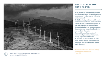 Windy Places for Wind Power