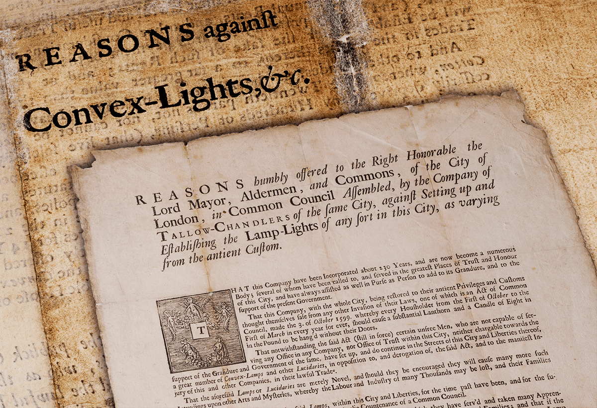The tallow chandlers 1692 petition to the City of London