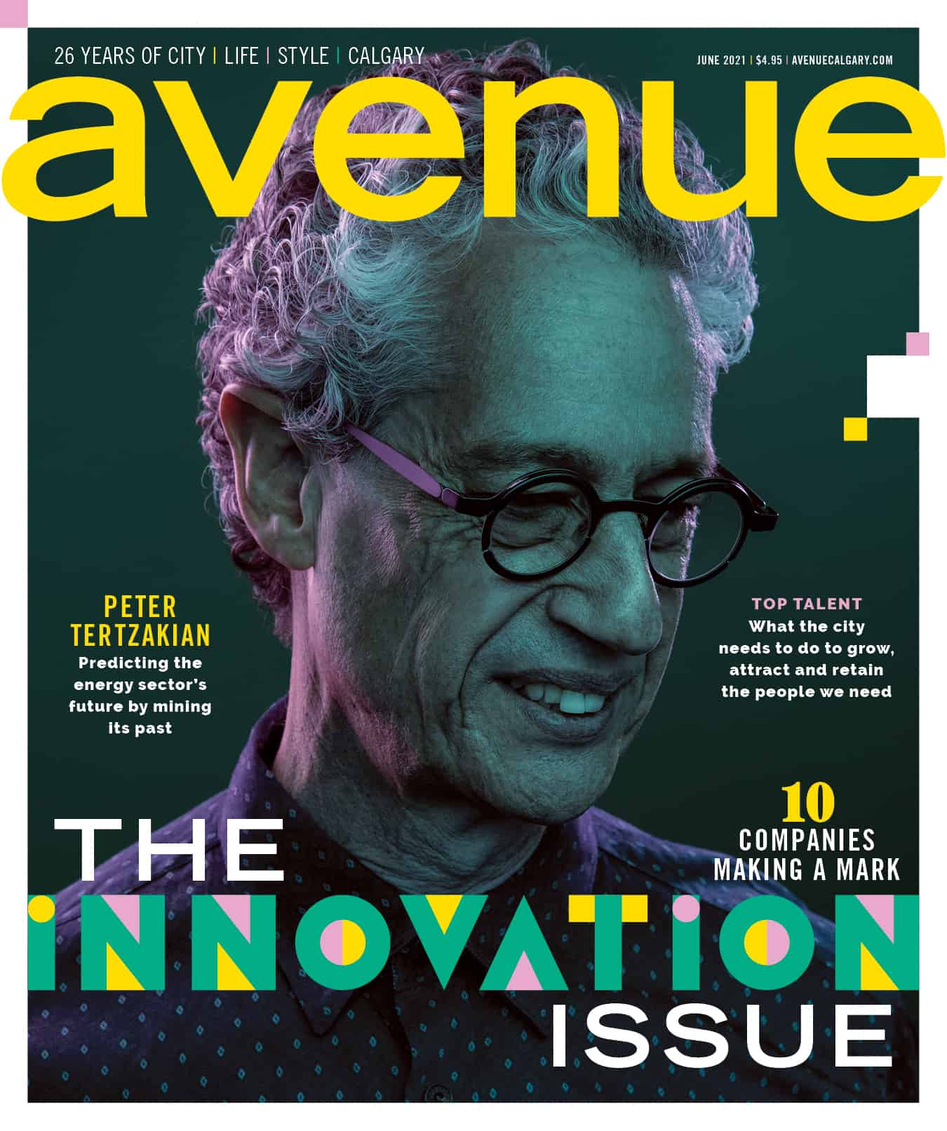 Peter Tertzakian on the cover of Avenue Magazine's Innovation Issue